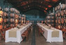 Q+A Wedding Day / Dogpatch Wineworks (winery in SF) is the location - it's industrial chic. So we're looking at Navy, with tons of gold and silver candlesticks, and blush/white flowers. Heavy appetizer stations instead of sit down dinner, and more of a cocktail party feel than a banquet! Okay - GO! / by Anastasia Buckley
