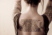 Tattoos  / by Joscelynn Sleep