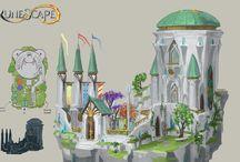 _Concept Art `The Elf City` / by RuneScape