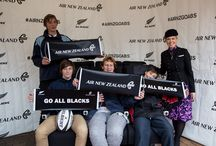 On our Skycouch with the All Blacks in Hamilton! #AIRNZGOABS / Our team and some of the All Blacks were in Hamilton on the 16th of June giving people the chance to get a photo on our Economy Skycouch & win. Check out some of the photos from the day! www.tfsn.co.nz/comingtohamilton  / by Air New Zealand