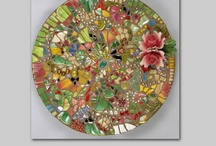 Finished Pique Assiette Mosaics / More of my work can be seen on my website, www.MelissasMotif.com / by Melissa's Motifs