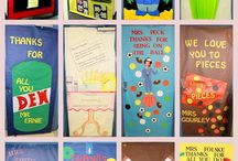 doors, bulletin boards, hallway decor / by Chris Sholl