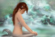 "Mermaids / by Sonia Schweikert . I Love Mermaids The Best "" Enjoy My Board , It's Stunning"