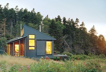 architecture/design inspiration / Modern, green building, natural, rustic. I tried to pick things that may be achievable dream homes. Not crazy, big, and über expensive. / by Jane Zook