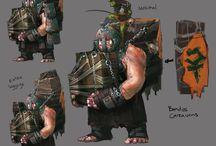 Concept Art `Bandos Vs Armadyl` / by RuneScape