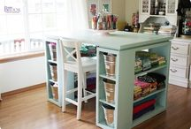 Home * Craft Rooms / by Dream a Little Bigger