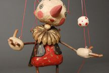 Puppets & Marionettes ~ Art / Puppets & marionettes - art and art dolls / by Bent Whims Studio ~ Caroline Jones