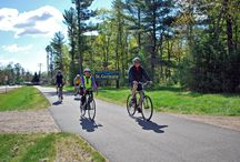 St. Germain Bike & Hike Trail / This 12 mile, family friendly, paved trail runs throughout St. Germain, connecting bicyclists, hikers and birdwatchers with 27 miles of paved Vilas County trails. It's one of the most beautiful paved trail systems in the Midwest and the gentle terrain makes for leisurely walking and pedaling. Connects to paved trails in the nearby towns of Sayner and Boulder Junction. / by St. Germain Area Chamber of Commerce, Inc.