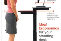 standing desk / by Tod Wheeler