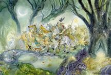 """Halloween Party: Tam Lin / """". . .and at the end of seven years we pay a tiend to Hell. . . I fear it be myself. . . this night is Hallowe'en, when faery folk will ride. . ."""" / by Adalune"""