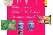 Chinoiserie Chic's Fabulous Friday Finds / Great Chinoiserie finds and deals in fabric, wallpaper, furniture, and decor. / by Beth Connolly // Chinoiserie Chic