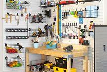 Garage/Workspace Organization / by Shavonda Gardner {AHomeFullOfColor}