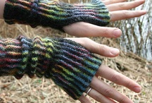 MITTENS and hand warmers: knitting and crocheting / by Darievna