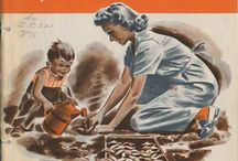Victory Garden and Vintage Posters / Some of these are watermarked from folks selling them, clean free  copies can generally be found through U.S. and other archive sites. I'll try to replace pins with the publicly free images as I can. http://specialcollections.nal.usda.gov is one source. / by Maggie Ceodraiocht