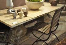Stone tables/french wax finish / by Camden
