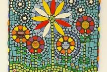 ceramic tile mosaic ideas / by Mary Thornton