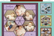 Honey Comb Stencil / This Board shows different Photo Collage layouts all using the Honey Comb Stencil as the design template. / by Lea France Scrapbooking (Photo Collage)