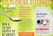 Get Glowing!  A Be Bright Giveaway / All thought June enter for your chance to win a month supply of Be Bright Superfood Oil Blend.  A delicious daily boost fo coconut, chia, avocado, hemp and black cumin seed oils.  Non-GMO.  Vegan. / by Coromega Omega-3