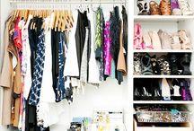 pretty closets / by Andréa V.