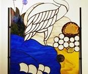 Vitrail: oiseaux, insectes / by Sylvia Soleil