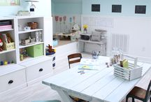 Converting office to kid area ideas / by Mommysquared S