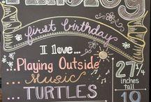 birthday love (chalkboard) / by Renee Person
