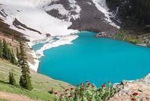 pretty blue lake / by C. Cox