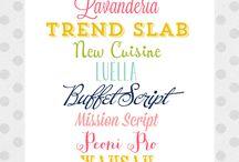 printables & fonts / by Jenny G