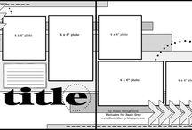 Scrapbook layouts / by FlowerandLinen