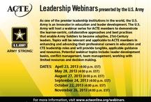 Leadership Webinar presented by U.S. Army / by ACTE