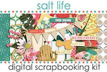 Kits: Salt Life / Digital Scrapbooking Kit created by Jen Wright Designs featuring ocean, summer, beach life. Blog-www.jenwright.net / by Jen Wright