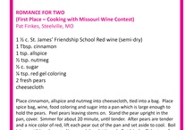 Recipes / Features award-winning recipes from the Missouri State Fair Home Economics  Department / by Missouri State Fair