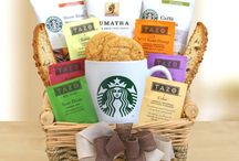 Starbuck Lovers Gift Board / Love your Starbucks coffee and tea? We now offer gift baskets that have both! / by Hanny's Gift Gallery