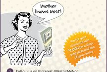RetailMeNot's Most Pinteresting Mom Giveaway / by Cra Cindi