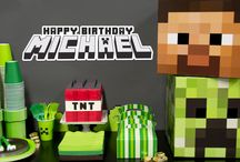 """Minecraft Party Ideas / """"That'sssss a nice party you have there..."""" Craft an amazing birthday experience for your child with #BirthdayExpress! #Minecraft / by Birthday Express"""