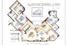 Movie/TV floorplans / by Jason Nelson