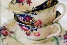 Antique Tea Cups / by Kim Galley