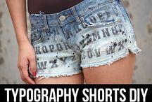 DIY shorts / by ILoveto Create