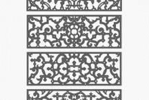 Architectural decorative 2D patterns / Collection of Architectural decorative 2D patterns. / by Craftsmanspace Jan