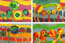 Grade Level Artists - 5th Grade / Dali/Magritte, Hundertwasser, O'Keeffe, Chihuly / by Josette Brouwer