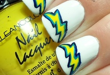 I lost a bet.... now I have to paint my nails Chargers!!! / by Kim Park