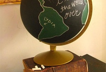 Love   Maps & Globes in Home Decor / I collect vintage maps and globes.  This board is full of ideas of how to display and use them in your home decor. / by Ann @ Duct Tape and Denim