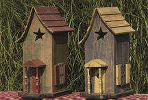 Birdhouses, feeders and garden stakes / by Deaune Cole