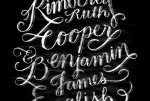 Hand Lettering / by Colleen Ludovice (inspired to share)
