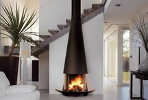 modern fireplaces / by PURE Inspired