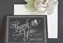 Stylish Wedding Thank You Cards  / Our favorite wedding thank you card designs + tips on how to write your thank you notes! / by Elli
