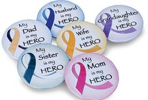 Buttons, Buttons, Buttons! / Made by our very own Button Bob! Cheerful and Uplifting Cancer Buttons with Cancer Awareness Sayings! / by Choose Hope