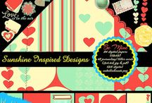 Sunshine Inspired Designs Scrapbooking Kits and Journaling Cards / Board dedicated to digital scrapbooking kits, papers, elements, embellishements, journaling cards by Sunshine Inspired Designs / by Ania Kozlowska-Archer