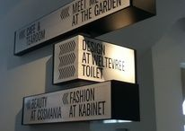 Signage Inspiration / Wayfinding and other signage / by Amy Stellhorn