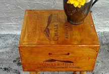 wine crate crafts / by Lindsey Gibson